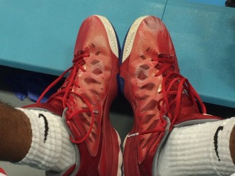 Cp3 Jordan's / red & blue reviewed by Jimmy Kealakaiokahaku Nunuha III